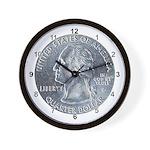 Masonic 'Two Bit' Wall Clock
