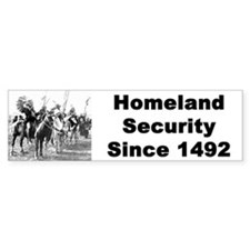 Homeland security bumper sticker
