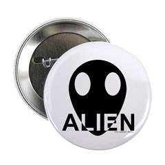 "Alien Head 2.25"" Button (100 pack)"