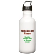 Politicians and Diapers Water Bottle