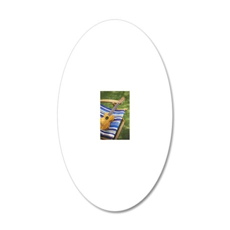 Ukulele 20x12 Oval Wall Decal