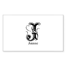Joanne: Fancy Monogram Rectangle Decal