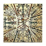 Xiuhtecuhtli Aztec Death God Tile Coaster
