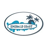 Emerald Coast - Surf Design. Wall Decal