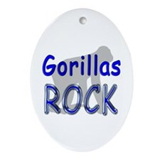 Gorillas Rock Oval Ornament