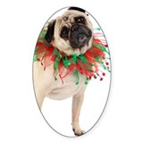 Festive Pug dressed for Christmas a Decal