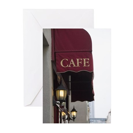 Sign of Café in Paris Greeting Cards (Pk of 10)