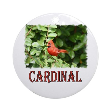 Northern Cardinal Ornament (Round)