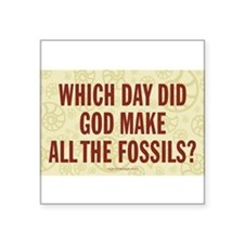 Which Day Did God Make Fossils? Sticker