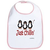 Penguins Chillin' Bib