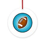 Football 2 Ornament (Round)