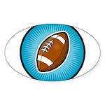 Football 2 Oval Sticker