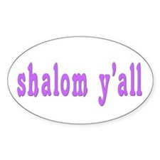 Shalom Y'all Greeting Oval Decal