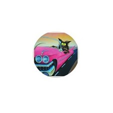 PINK CADILLAC CAT - Mini Button