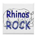 Rhinos Rock Tile Coaster