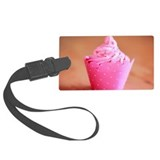 Strawberry cupcake Large Luggage Tag