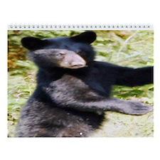 black bear cub Wall Calendar