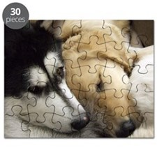 Puppy dog heads sleeping together in group Puzzle