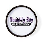 Naughty Boy [Red] Wall Clock