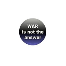 Cute War is not the answer Mini Button