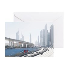 Sheikh Zayed road on nat Greeting Cards (Pk of 10)