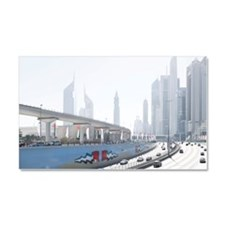 Sheikh Zayed road on national d Car Magnet 20 x 12