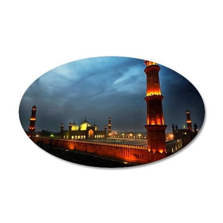 Badshahi Mosque, from Cocoos 35x21 Oval Wall Decal