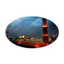 Badshahi Mosque, from Cocoos's den Oval Car Magnet