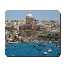 View to St. Joseph church, Kalkara, Malta Mousepad