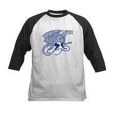 Celtic Knotwork Dragon, Blue Baseball Jersey