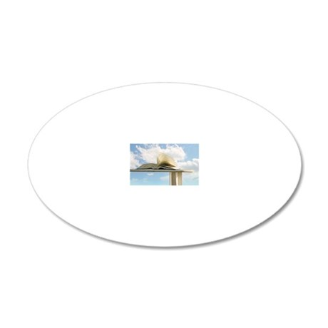 Book 20x12 Oval Wall Decal