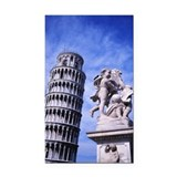 Leaning Tower of Pisa Rectangle Car Magnet