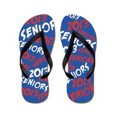 Red White and Blue Senior Class OF 2013 Flip Flops