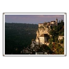 Rocamadour village and church on hillside Banner