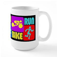 TRI Swim Bike Run Figures Mug