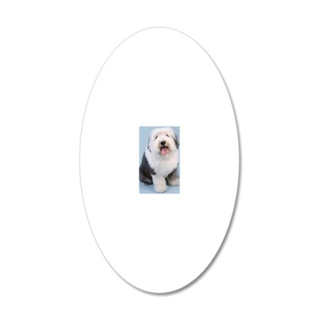 Portrait of old English Shee 20x12 Oval Wall Decal