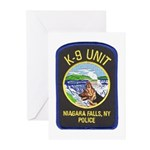 Niagara Falls Police K9 Greeting Cards (Package of