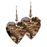 Slopes near gold, (Ouro Preto  Earring Heart Charm