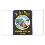 Niagara Falls Police K9 Rectangle Sticker
