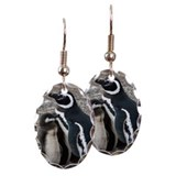 Magellanic penguins Earring Oval Charm