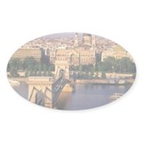 Hungary, Budapest, Chain Bridge and Decal