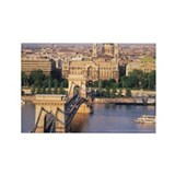Hungary, Budapest, Chain Bridge a Rectangle Magnet