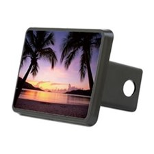 Silhouettes of palm trees  Hitch Cover