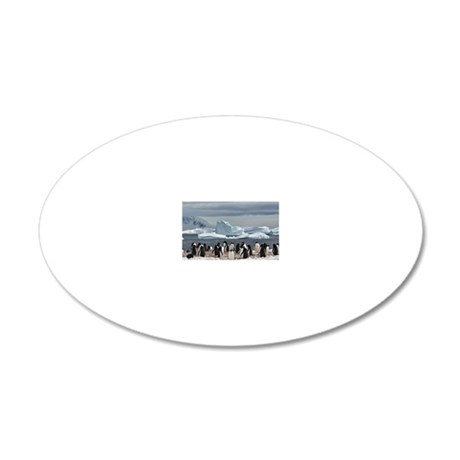 Penguin 20x12 Oval Wall Decal