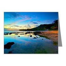 Paradise at sunset Note Cards (Pk of 20)