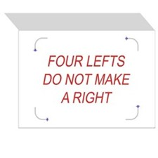 FTG: 4 Lefts Greeting Cards (Pack. of 6)