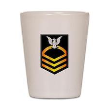 Navy - CPO - Rank - Gold Shot Glass