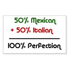 Italian & Mexican heritage Rectangle Decal