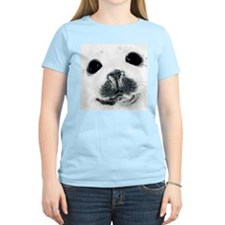 Harp Seal 3 Women's Pink T-Shirt