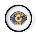 Pasadena Police Wall Clock